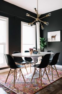 "<img src=""black and white dining space.jpg"" alt=""black and white modern dining space"">"