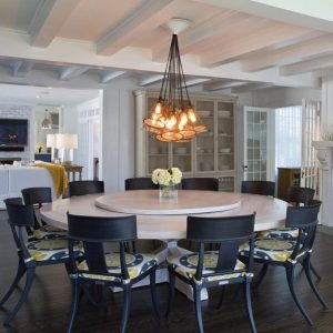 how to pick the right dining table. Round table with lazy susan
