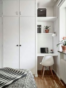 Utilize the smallest corner in your room for an office space