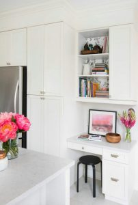 Home office space in your kitchen.