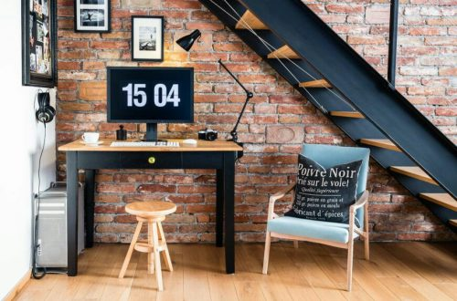 Office space under the stairs