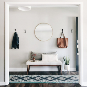 Styling a small entryway