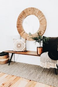 Bohemian style entryway