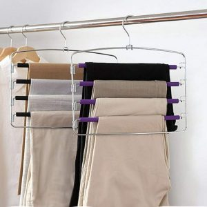 Hang or fold clothes to maximize on closet storage space